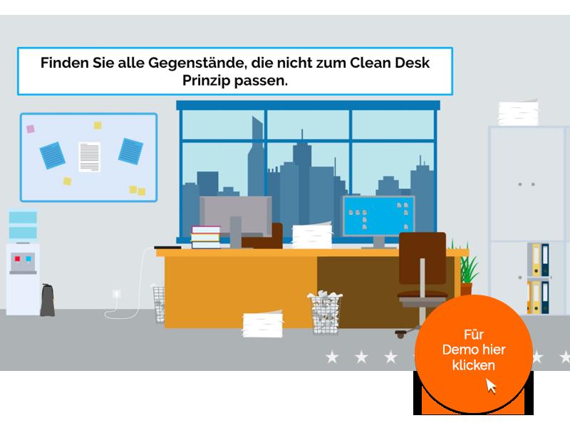 Such-Spiel zum Clean Desk Prinzip